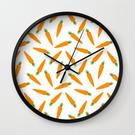 CARROT CARROTS VEGGIE FOOD PATTERN Wall Clock