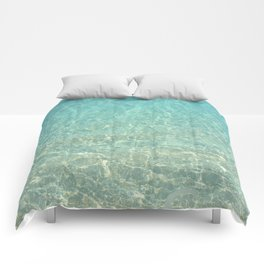 Colors of the Sea Water - Clear Turquoise Comforters