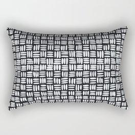 White Sticks Rectangular Pillow