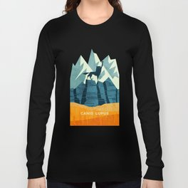 Canis Lupus: What a beautiful creature. I have a Phobia of Wolves. Long Sleeve T-shirt