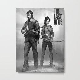 The Last of Us Joel and Ellie Metal Print
