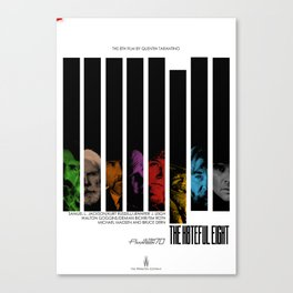 The hateful eight Jazzy poster Canvas Print