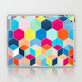 Super Bright Color Fun Hexagon Pattern Laptop & iPad Skin
