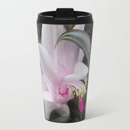 Pink Christmas Cactus Bloom Travel Mug