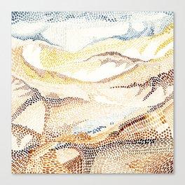 Dunes and desert Canvas Print