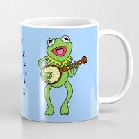 kermit Mugs featuring Kermit having fun by BlackBlizzard