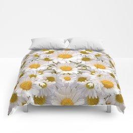 WHITE SHASTA DAISES GARDEN Comforters