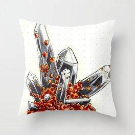 Smoky quartz and spessartine garnet Throw Pillow