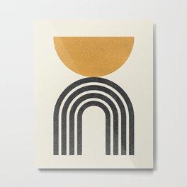 Mid century modern - half sun arch Metal Print