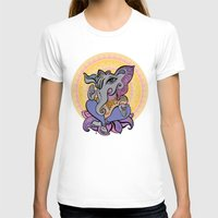 hindu T-shirts featuring Hindu God Ganesha. Hand drawn illustration. by Katyau