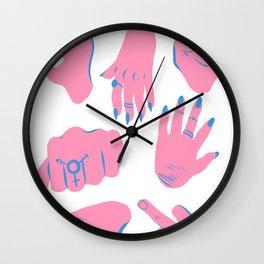 trans hands Wall Clock