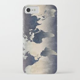 World Map Gray iPhone Case