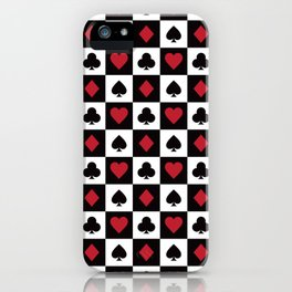 Card Pattern - Red Queen iPhone Case