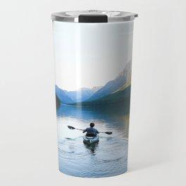 Kayaking on Bowman Lake Travel Mug