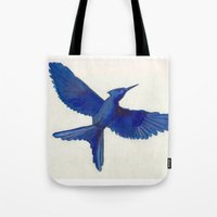 mockingjay Tote Bags featuring Mockingjay Mockingjay by Blanca MonQnill Sole