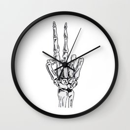 Peace Out Wall Clock