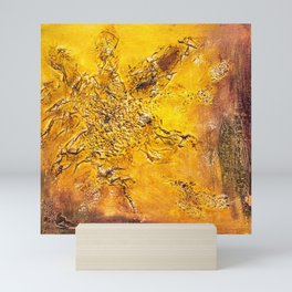 Abstract acrylic Scorched earth Mini Art Print