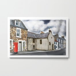 Traditional Houses in Elie, Kingdom of fife, Scotland [Digital Architecture Illustration] Metal Print