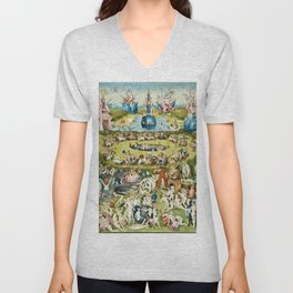 Heironymus Bosch - The Garden Of Earthly Delights Unisex V-Neck