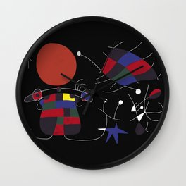 Joan Mirò #4 Wall Clock
