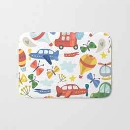 Kids Air Transportation Bath Mat
