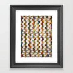 Obsessive Compulsive Zipper Framed Art Print