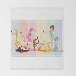 Sailor Moon Pinup - Cupcakes Throw Blanket
