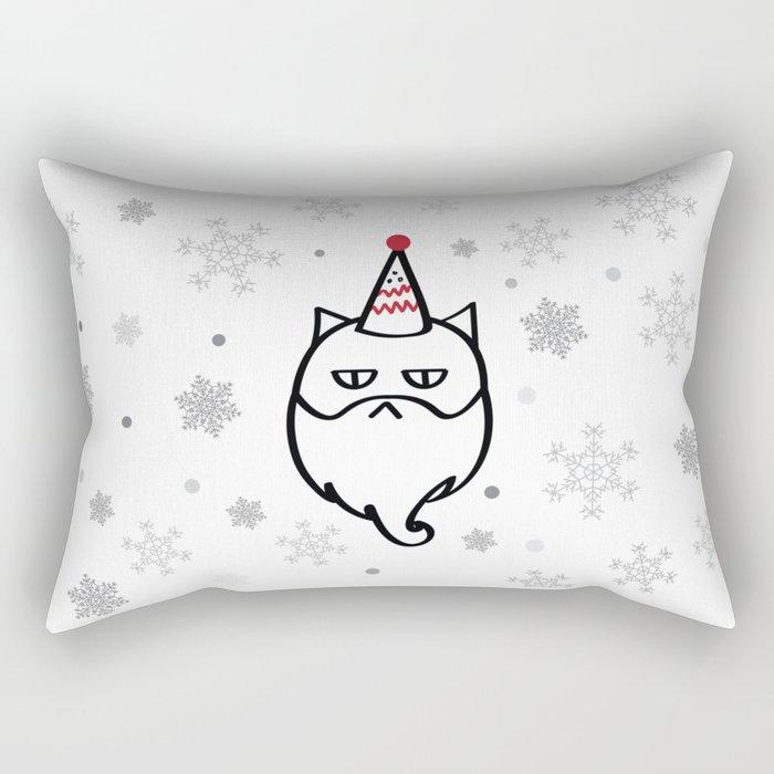 Santa Max The Cat Rectangular Pillow