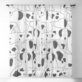 Dalmations Sheer Curtain