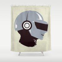 daft punk Shower Curtains featuring Daft Punk - RAM (Thomas) by Ben Huber