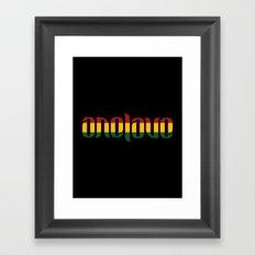 One Love Ambigram  Framed Art Print