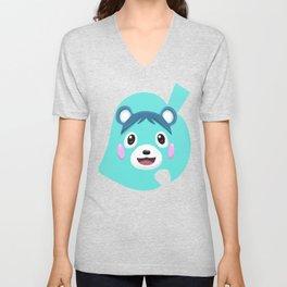Animal Crossing Bluebear the Cub Unisex V-Neck