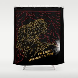 Welder Light Fire Shower Curtain