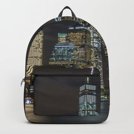 New york city during nighttime Backpack