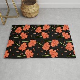 Dark Florals- Orange Rug