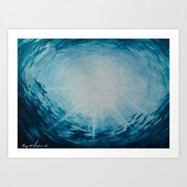 Ocean Ripples | Watercolor Art Print