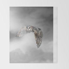 flying owl (tyto alba) Throw Blanket
