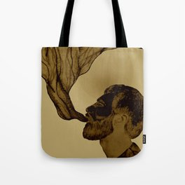 smoking man Tote Bag