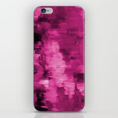 Paint 4 abstract minimal modern art painting canvas affordable art passion pink urban decor iPhone & iPod Skin