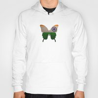 india Hoodies featuring india butterfly by Steffi Louis