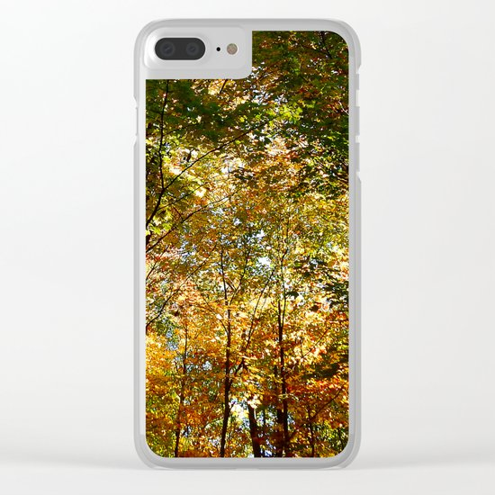 Through the Trees in October Clear iPhone Case