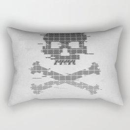 Grunge 8bit Glitch crossbones Rectangular Pillow