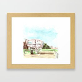 Lifeguard tower Binz Framed Art Print