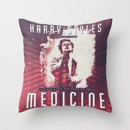 VINTAGE MEDICINE POSTER Throw Pillow