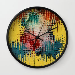 Paint Drips Wall Clock