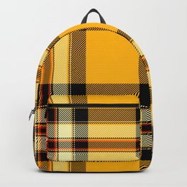 Argyle Fabric Plaid Pattern Autumn Colors Yellow and Black Backpack