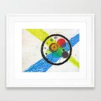 kandinsky Framed Art Prints featuring do it like kandinsky by Olga Kakoulidou