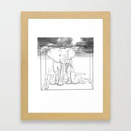 Elephant in the Room Framed Art Print