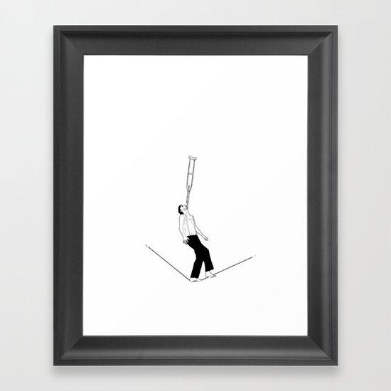 balance beam Framed Art Print