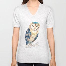 The colourful barn owl Unisex V-Neck
